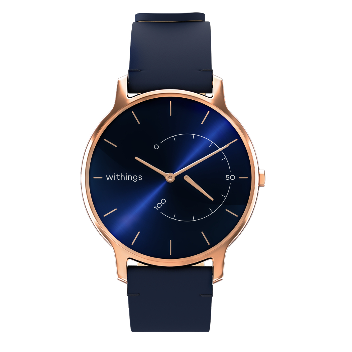 Withings Move Timeless Chic, 38mm, Blue & Rose Gold - Activity tracking watch - Sleep analysis, Water resistant - Withings Official Store