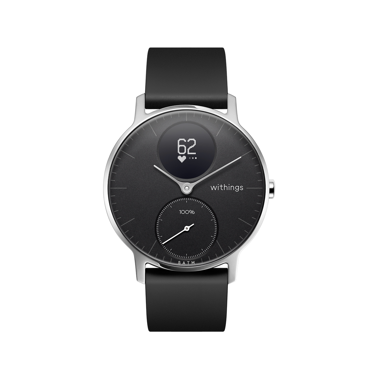 Withings Steel HR (Nokia), 36mm, Black - Hybrid Smartwatch - Heart rate & Smartphone notifications - Withings Official Store