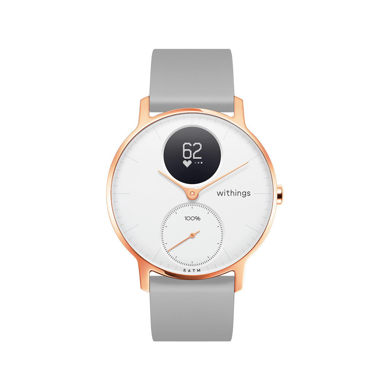 Withings Steel HR (Nokia), 36mm, White & Rose Gold - Hybrid Smartwatch - Heart rate & Smartphone notifications - Withings Official Store