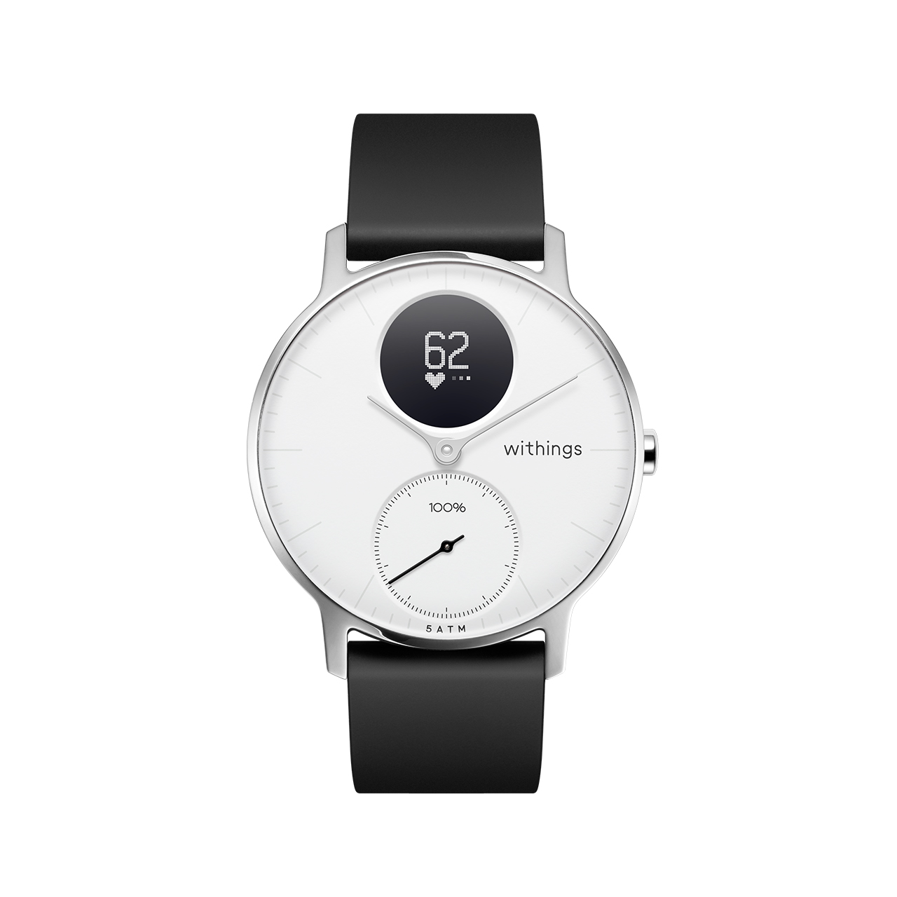 Withings Steel HR (Nokia), 36mm, White - Hybrid Smartwatch - Heart rate & Smartphone notifications - Withings Official Store
