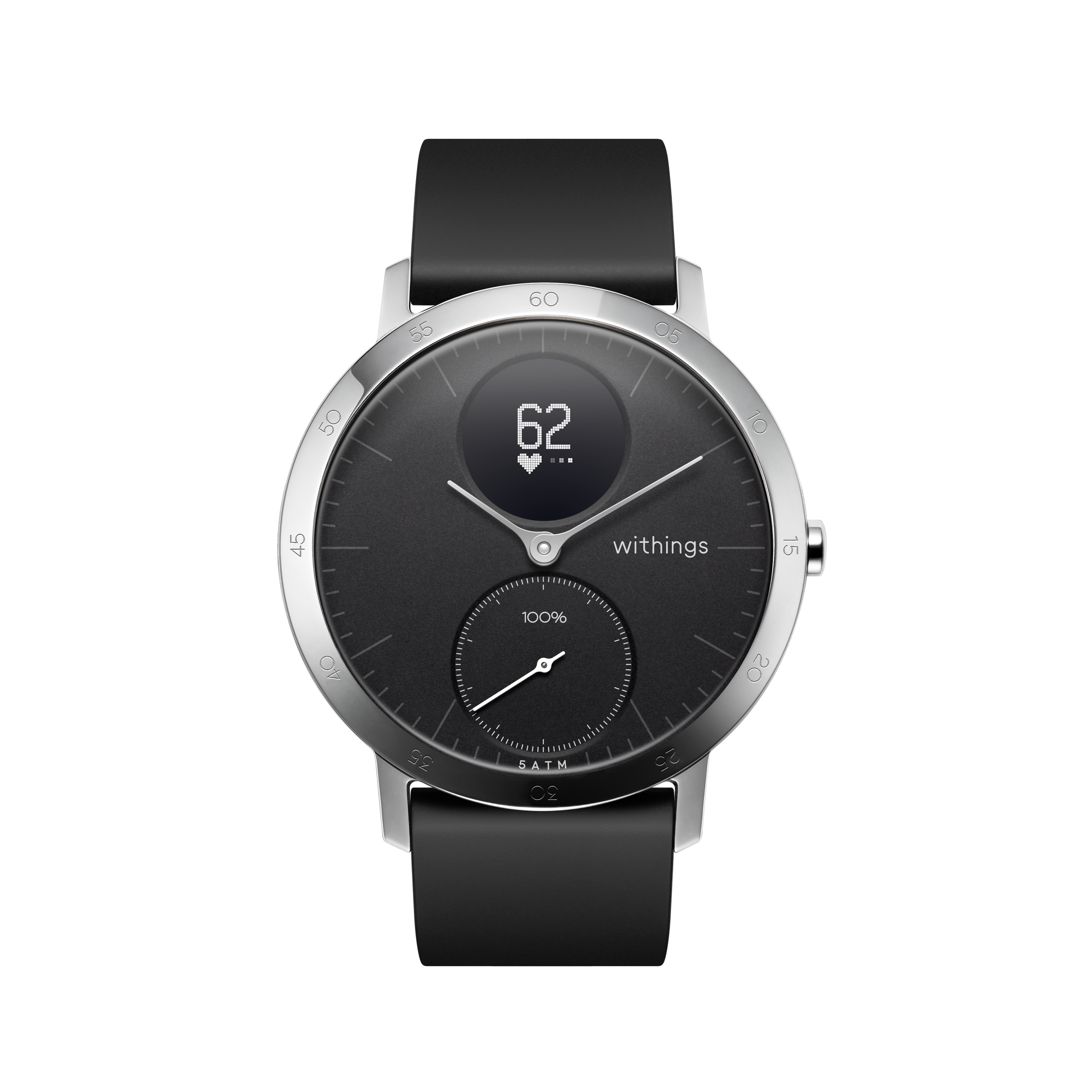 Withings Steel HR (Nokia), 40mm, Black - Hybrid Smartwatch - Heart rate & Smartphone notifications - Withings Official Store