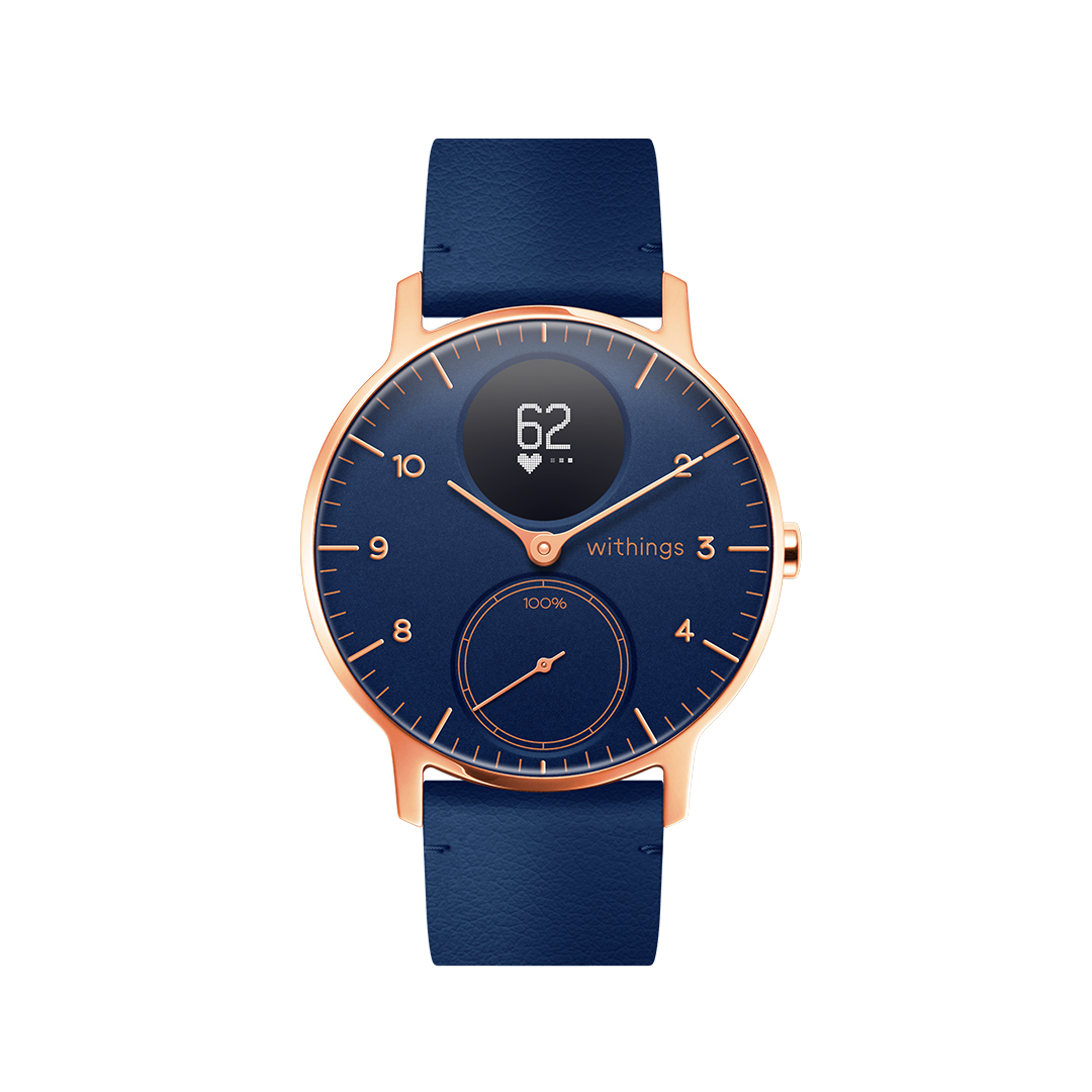 Withings Steel HR Limited Edition, 36mm, Blue & Gold - Hybrid Smartwatch - Heart rate & Smartphone notifications - Withings Official Store