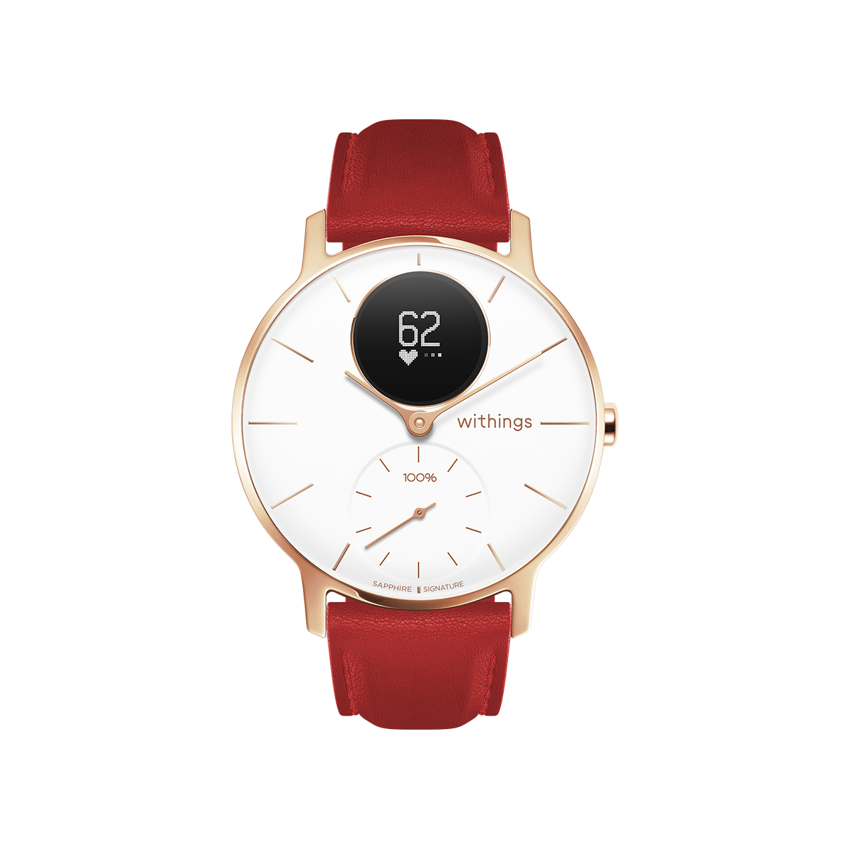 Withings Steel HR Sapphire Signature, 36mm, White & Rose Gold - Hybrid Smartwatch - Heart rate & Smartphone notifications - Withings Official Store