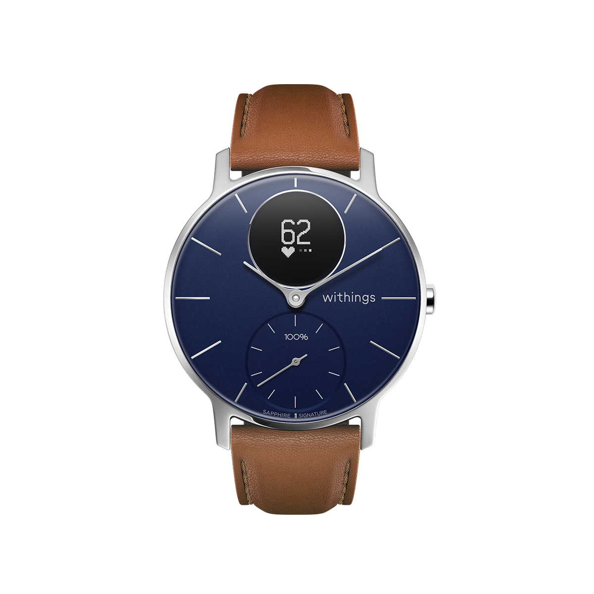 Withings Steel HR Sapphire Signature, 36mm, Blue & Silver - Hybrid Smartwatch - Heart rate & Smartphone notifications - Withings Official Store