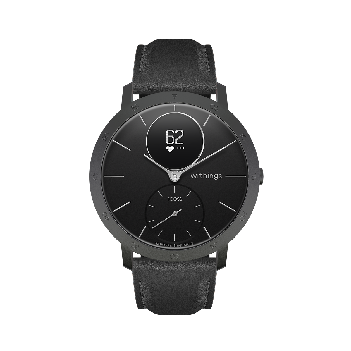 Withings Steel HR Sapphire Signature, 40mm, Black & Slate Grey - Hybrid Smartwatch - Heart rate & Smartphone notifications - Withings Official Store